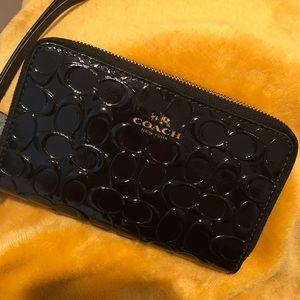 Black coach wallet wrislet